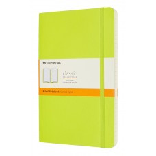 Classic Large Lemon Green Ruled Notebook - Softcover
