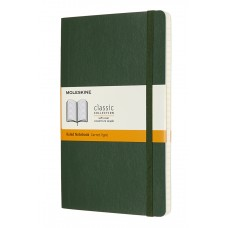 Classic Large Myrtle Green Ruled Notebook - Softcover