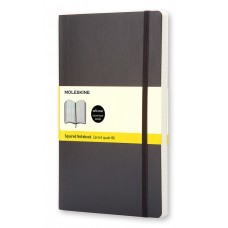 Classic Large Black Graph Notebook - Softcover