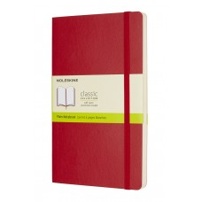 Classic Large Scarlet Red Blank Notebook - Softcover