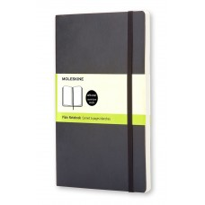 Classic Large Black Blank Notebook - Softcover