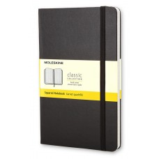 Classic Large Black Dot Grid Notebook - Softcover