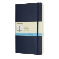 Classic Large Sapphire Blue Dot Grid Notebook - Softcover