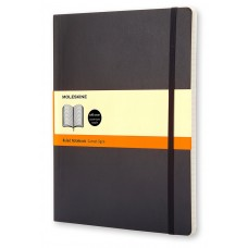 Classic Extra Large Softcover Black Ruled Notebook