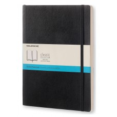 Classic Extra Large Softcover Black Dot Grid Notebook
