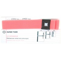 Notebook Strap with 2 Pen Holder - Tokyo pink