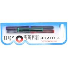 Sheaffer cartridges 5 pack, mixed
