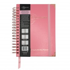 The Key Planner B5 Undated Yearly Weekly Planner - Pink