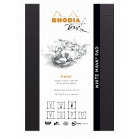 Touch White Maya Calligraphy Pad - A5