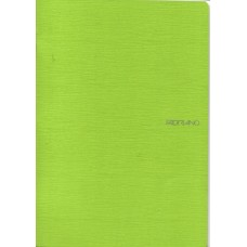 EcoQua A4 Lime Lined Notebook
