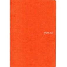 EcoQua A4 Orange Lined Notebook