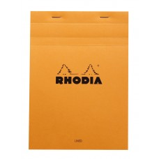 Bloc Rhodia A5 Orange - Lined and Margined
