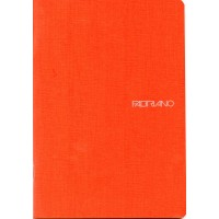 EcoQua A5 Orange Dot Grid Gummed Notebook