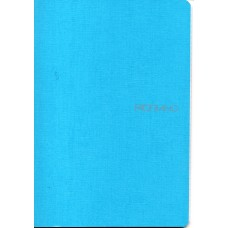 EcoQua A5 Turquoise Blank Notebook