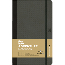 Adventure Notebook - Large Dotted Off-Black
