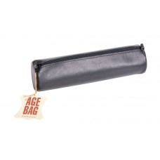 Age-Bag Leather Pen Case - Large Black