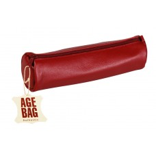 Age-Bag Leather Pen Case - Large Red
