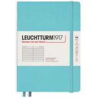 Medium Lined Aquamarine Hardcover