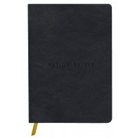 Flying Spirit A5 Leather Black Journal - Dot Grid