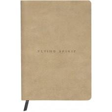 Flying Spirit A5 Leather Beige Journal - Dot Grid