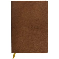 Flying Spirit A5 Leather Cognac Journal - Dot Grid