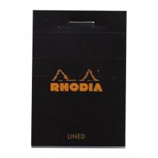 Bloc Rhodia Nanopad Black - Lined