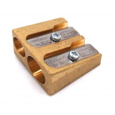 Brass Double Wedge Sharpener