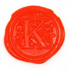 Flame orange wax, pellets
