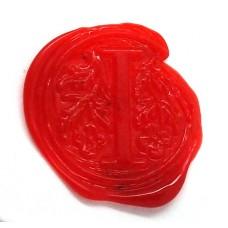 Red wax, pellets