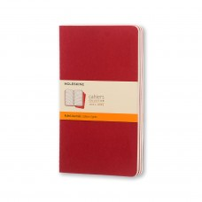 Cahier Extra Large Cranberry Lined, 3 Pack