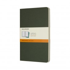 Cahier Large Myrtle Green Lined, 3 Pack