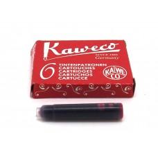 Kaweco Red, 6 cartridges