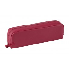 Rectangular Leather Pen Case - Fuchsia