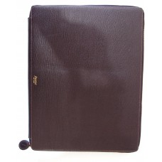 Chester A4 Zip Writing Folio - Brown