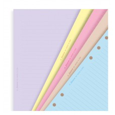 A5 Coloured Ruled Notepaper Refill