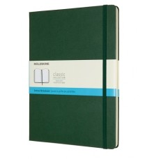 Classic Extra Large Softcover Myrtle Green Dot Grid Notebook