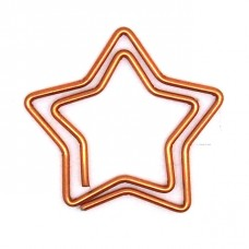 Star paper clips, box of 30