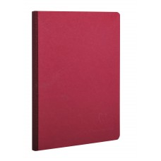 Age-Bag Clothbound A4 Red Notebook - Lined