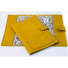 Colette A5 Leather Notebook Cover - Yellow