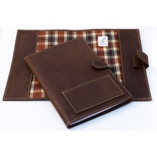 Colette A5 Leather Notebook Cover - Pullup Brown