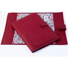 Colette A5 Leather Notebook Cover - Red