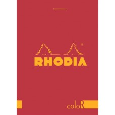 coloR Bloc Rhodia 8.5 x 12 Raspberry - Lined