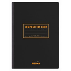 Rhodia Composition Book A5 Black - Lined