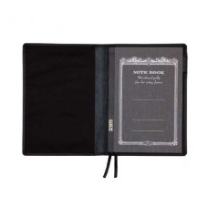 A6 Leather Notebook Cover - Black