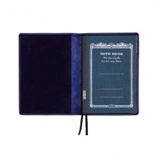 A6 Leather Notebook Cover - Blue
