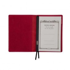 A5 Leather Notebook Cover - Red