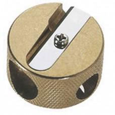 Brass Round Stubby Double Sharpener