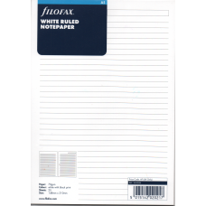 A5 White Ruled Notepaper Refill