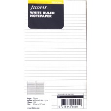 Personal White Ruled Notepaper Large Refill