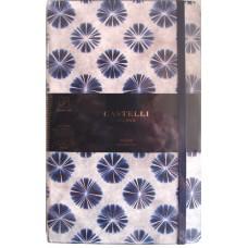 Shibori Flowers Ruled A5 Notebook